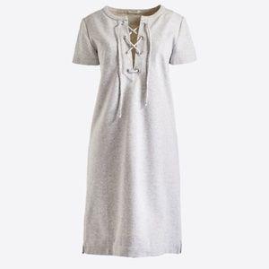 Make Offer J. Crew Gray Lace-up Sweatshirt Dress